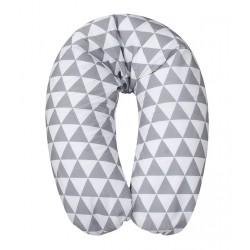 Vankúš na kojenie Relax bielo-šedá, 170cm