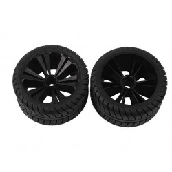 REVELL - REVELLUTIONS (47218) - Set 2x Rear Wheel for Muscle Car, black