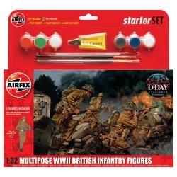 Starter Set figurky A55211 - WWII British Infantry Multipose (1:32)