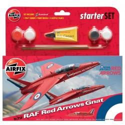 Starter Set lietadlo A55105 - Red Arrows Gnat (1:72)