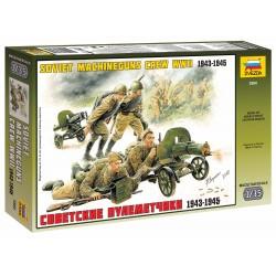 Model Kit figurky 3584 - Soviet Machineguns with Crew (1:35)