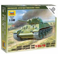 Wargames (WWII) tank 6101 - Soviet Medium Tank T-34/76 (1:100)