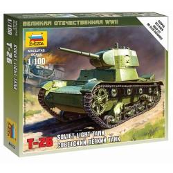 Wargames (WWII) tank 6113 - Soviet Tank T-26 M (1:100)