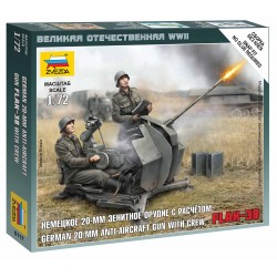 Wargames (WWII) letadlo 6117 - German Anti-Aircraft Gun with Crew (1:72)