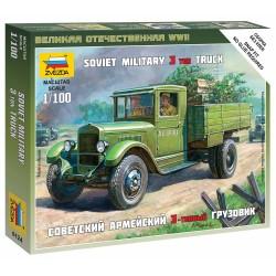 Wargames (WWII) military 6124 - Soviet Truck ZIS-5 (1:100)